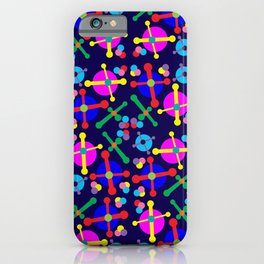 Outer Space Jacks Navy iPhone Case