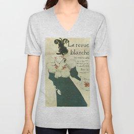Vintage poster - La Revue Blanche Unisex V-Neck