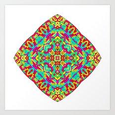 Four Owls Mandala Art Print