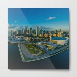 USA Photography - Miami Under The Blue Sky Metal Print