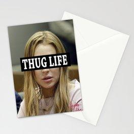 """Lindsay Lohan """"Thug Life"""" **Signed** Stationery Cards"""