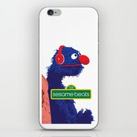 sesame street iPhone & iPod Skins featuring Sesame Beats by DuverneB