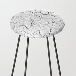 ginkgo leaves (white) Counter Stool