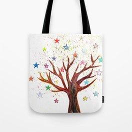 Star Tree Illustration Art Tote Bag