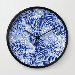 selva azul Wall Clock