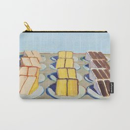 """Classical Masterpiece """"Cake Rows"""" by Wayne Thiebaud,1920 Carry-All Pouch"""