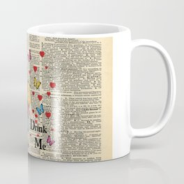 Drink Me - Vintage Dictionary Page - Alice In Wonderland Coffee Mug