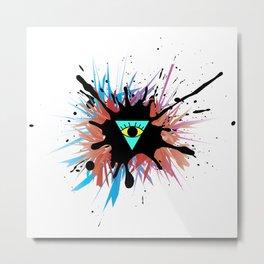 Reverse Illuminati Metal Print