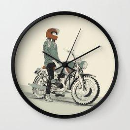 The Woman Rider Wall Clock