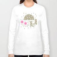 rain Long Sleeve T-shirts featuring Rain by ottomanbrim