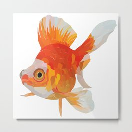 a goldfish with a unique design Metal Print