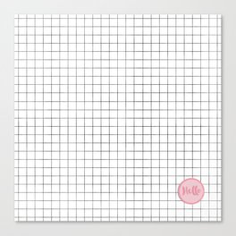 Drawn Grid with Badge Canvas Print