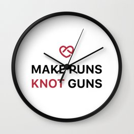 Make Puns Knot Guns Wall Clock
