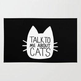 Talk to Me About Cats (white) Rug