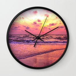 A View For the Soul Sunset Wall Clock