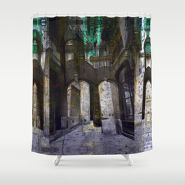 Erased equal cargo hints. Shower Curtain
