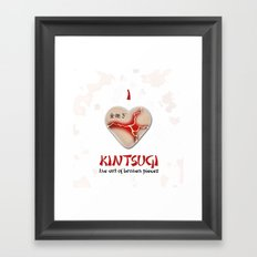 i love kintsugi Framed Art Print