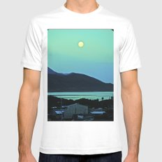 Enchanted Moon. White Mens Fitted Tee MEDIUM