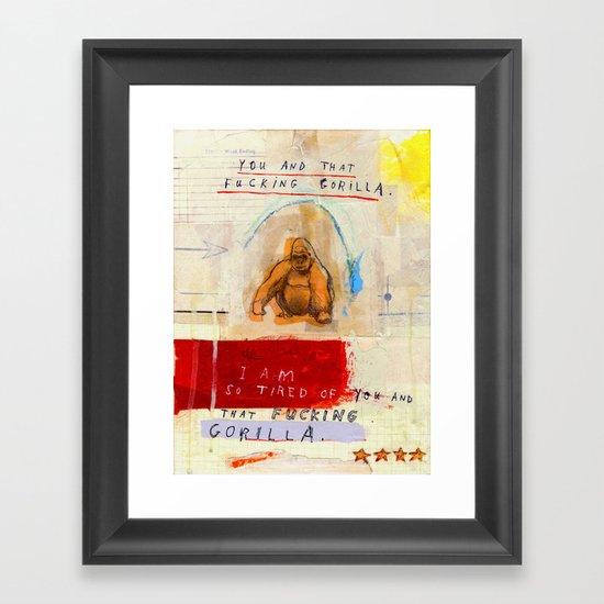 Gratuitous Simian Profanity. Framed Art Print