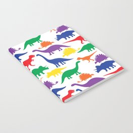 Dinosaurs - White Notebook
