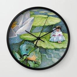 """Aquatic Assistance"" by Susan Jeffers  Wall Clock"