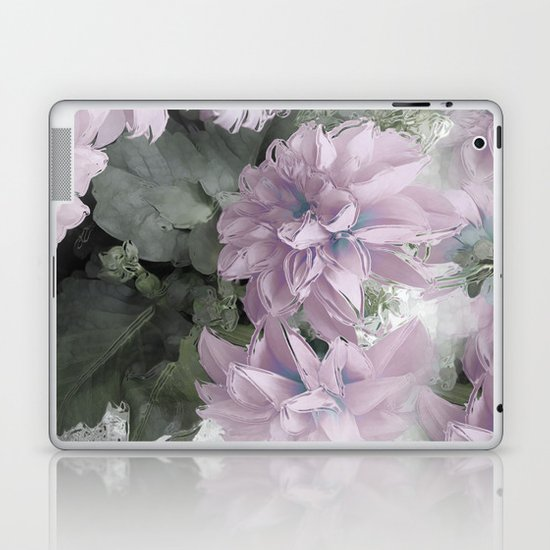 Pastel Dahlia's Laptop & iPad Skin