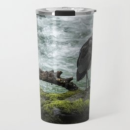 Great Blue Heron on the McKenzie, No. 1 Travel Mug