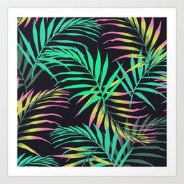 Summer Bliss Leaves  Art Print