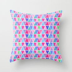 Pretty triangles Throw Pillow