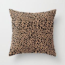 Wild leopard - animal pattern  Throw Pillow
