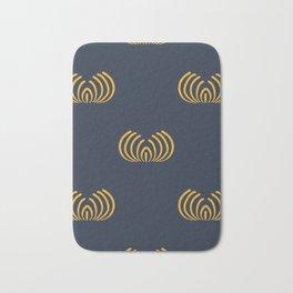 Navy blue art deco pattern Bath Mat