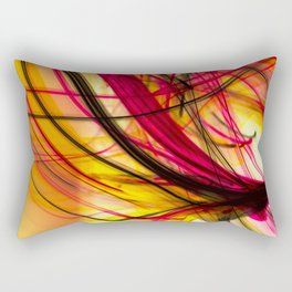Heatwave Dynamic Abstract Painting Rectangular Pillow