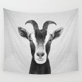 Goat - Black & White Wall Tapestry