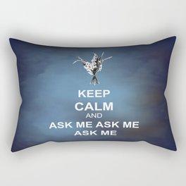Keep Calm and Ask Me Rectangular Pillow
