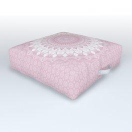 Boho Pink Mandala Outdoor Floor Cushion