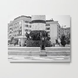 The great fountain at the Macedonia Square in Skopje Metal Print
