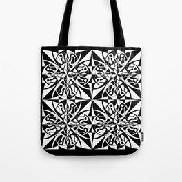 Think Tiled - Black White Tote Bag