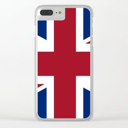 British Flag Clear iPhone Case
