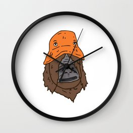 Sassy bucket hat Wall Clock