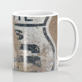 Historic old Route 66 sign. US 66. Coffee Mug