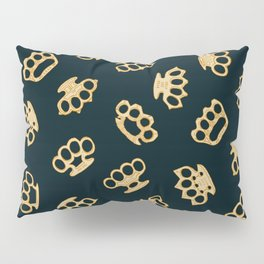 Brass Knuckles With Good Thoughts Pillow Sham