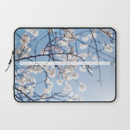 Travel Light, Live Light, Spread The Light, Be The Light Laptop Sleeve