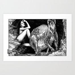 asc 885 - Le wallaby (Queue choisir VI) Art Print