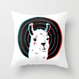 Llamalook Throw Pillow