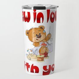 Sew In Love With You Bear Valentine's Day Gifts Travel Mug