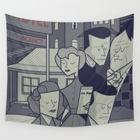 psycho Wall Tapestries featuring Psycho by Ale Giorgini