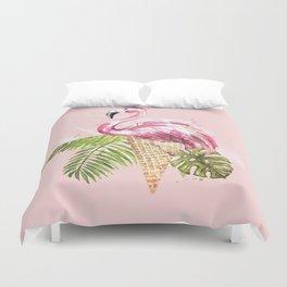 Ice cream Flamingo Duvet Cover