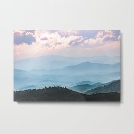 Smoky Mountain National Park Sunset Layers - Nature Photography Metal Print