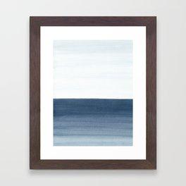 Ocean Watercolor Painting No.1 Framed Art Print