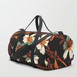 White gothic flowers Duffle Bag